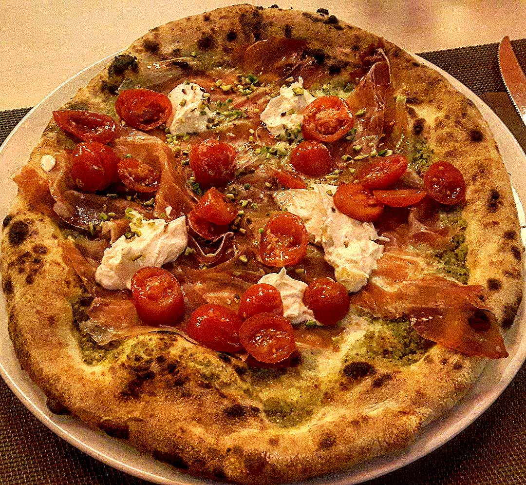 La pizza al pistacchio a Palermo